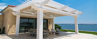 Add the Style of a Pergola to Your Deck or Patio with Pergola Kits Available from RBS